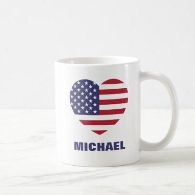 Personalized American Flag or Your Image and Name Coffee Mug