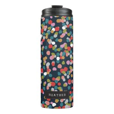 Personalized | Ashley Dots Thermal Tumbler