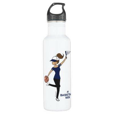 Personalized Avatar #1 Basketball Fan Stainless Steel Water Bottle