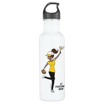 Personalized Avatar #1 Football Fan Stainless Steel Water Bottle