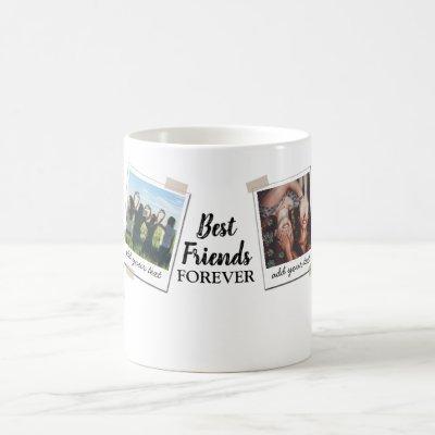 Personalized Best Friends 4 Photo Custom Collage Coffee Mug