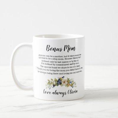 Personalized Bonus Mom Stepmom Mother's Day Coffee Mug