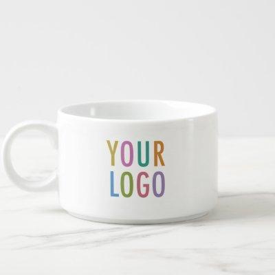 Personalized Bowl Mug Custom Business Logo Branded