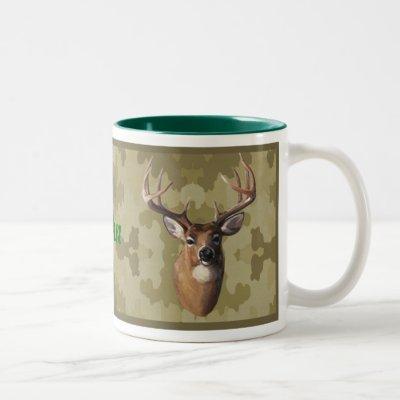 Personalized Camo Deer Mug
