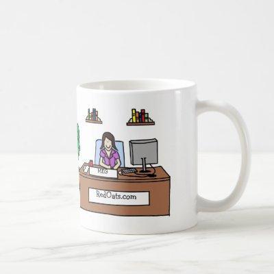 Personalized cartoon mug with company name