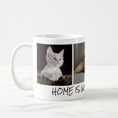 Personalized Cat Photos in Coffee Mug