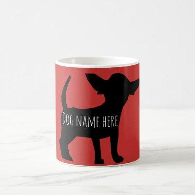 Personalized chihuahua chiweenie puppy mug w/ name