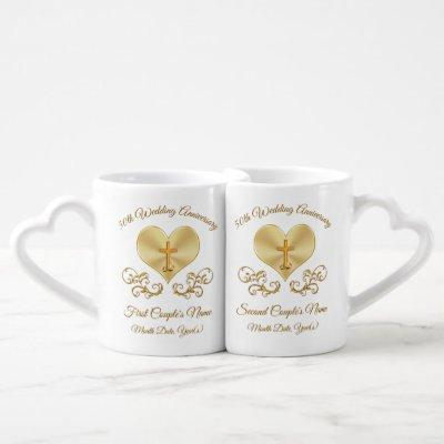 Personalized Christian 50th Anniversary Mugs