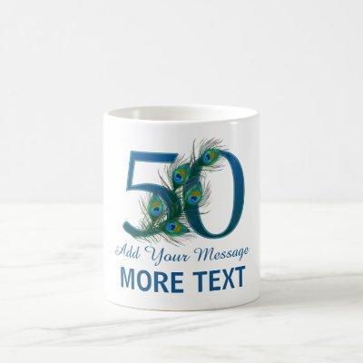 Personalized classy 50th birthday 50 mug