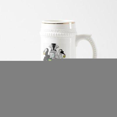 Personalized Coat of Arms Stein - Green