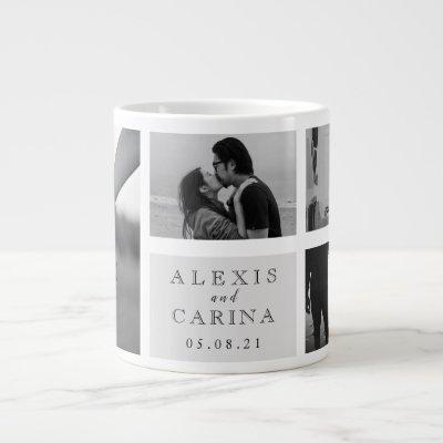 Personalized Couple Photo Wedding Giant Coffee Mug