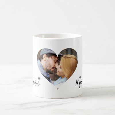 Personalized Couples Photo Name Valentines Day Coffee Mug
