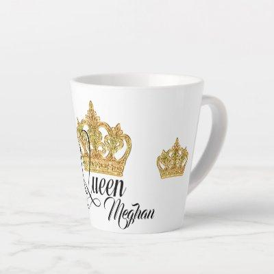 Personalized Crown Queen Latte Mug