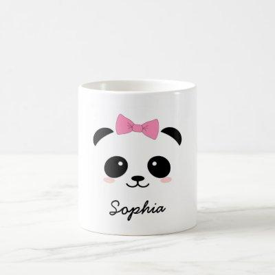 personalized cute animal panda girly mug