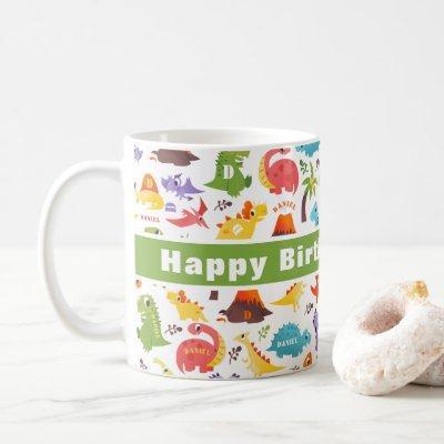 Personalized Cute Dinosaur  Coffee Mug