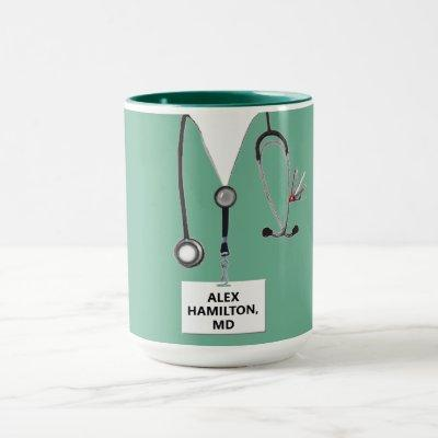 personalized doctor collectible mug