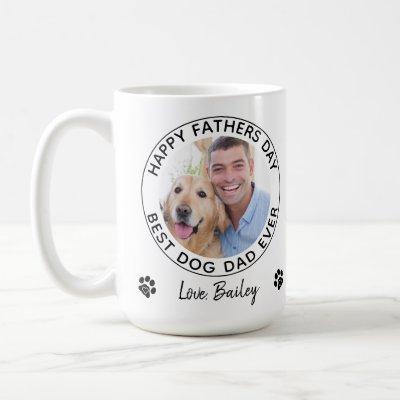Personalized Dog Dad Pet Photo Happy Father's Day Coffee Mug