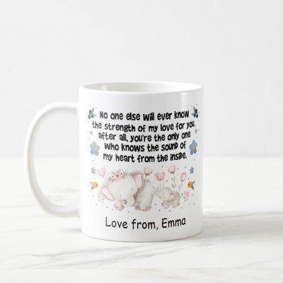 Personalized Elephant Mom Coffee Mug