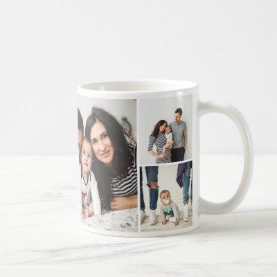 Personalized Family 7 Photo Collage Coffee Mug