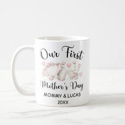 Personalized First Mothers Day 2021, Custom Names  Coffee Mug