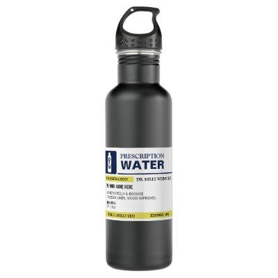 Personalized Funny Prescription Water Stainless Steel Water Bottle