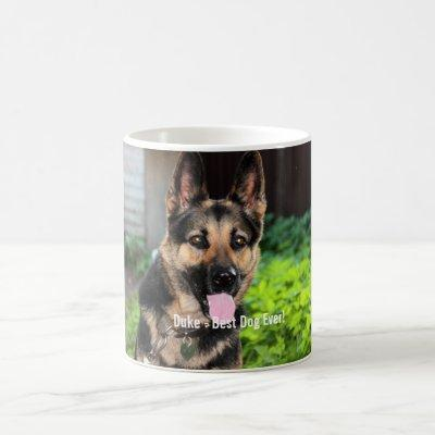 Personalized German Shepherd Dog Photo, Dog Name Coffee Mug