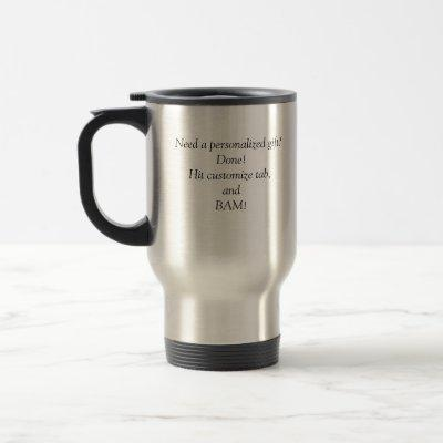 Personalized Gift Travel Mug