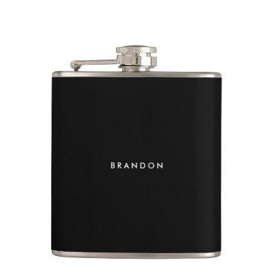Personalized Gifts For Men Black Flask