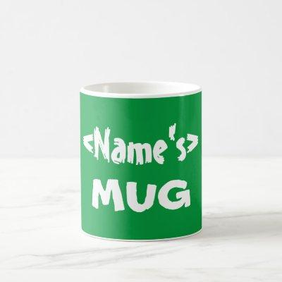 Personalized Green Name Mug