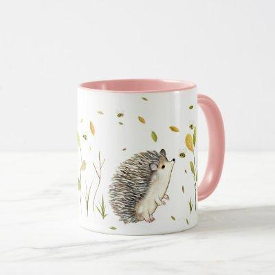 Personalized hedgehog mug