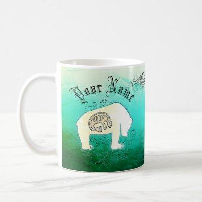Personalized Inuit Seals and Polar Bear Coffee Mug