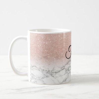 Personalized Marble Sparkle mug