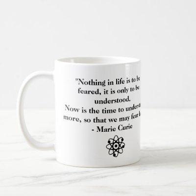 Personalized Marie Curie Quote Coffee Mug