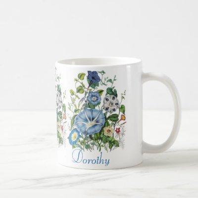 Personalized Morning Glories Mug