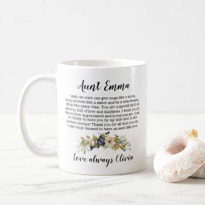 Personalized Mother's Day Gift For Aunt Coffee Mug