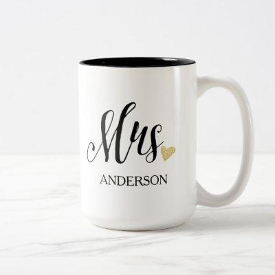 Personalized Mrs. | Bride-to-Be-2 Two-Tone Coffee Mug