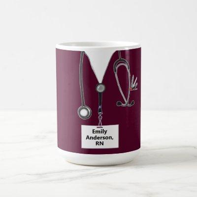 personalized nurse collectible coffee mug