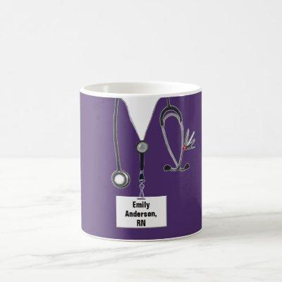 personalized nurse collectible coffee mug