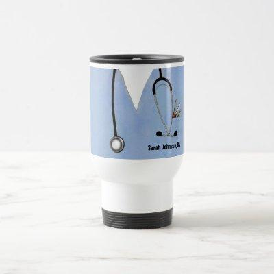 personalized nurse collectible travel mug