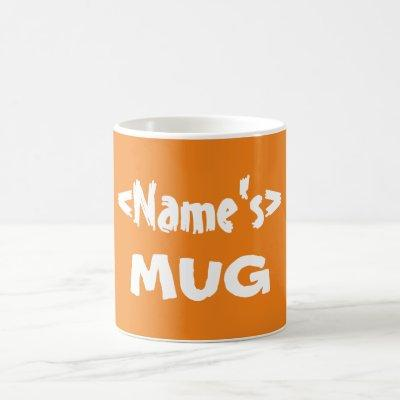 Personalized Orange Name Mug