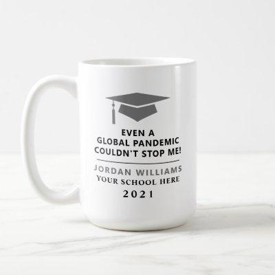 Personalized Pandemic - Graduate Class of 2021 Mug