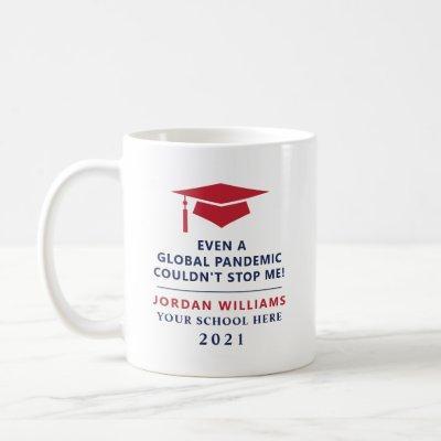 Personalized Pandemic Graduate Class of 2021 Mug