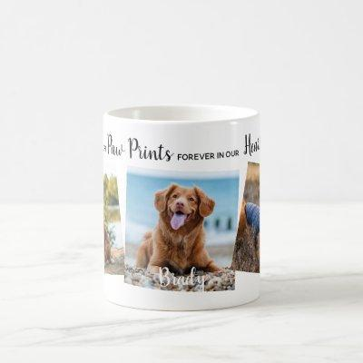 Personalized Paw Prints In Our Hearts Pet Memorial Coffee Mug