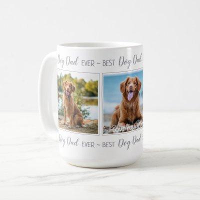Personalized Pet Photo Dog Dad Coffee Mug