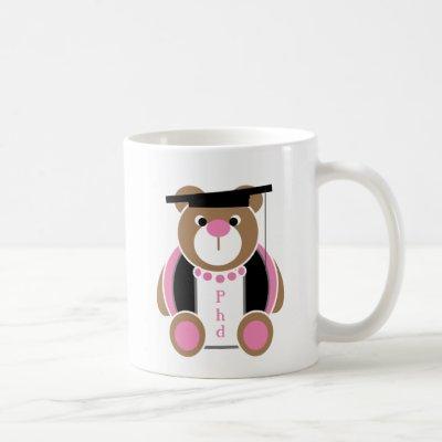 Personalized Phd cute female teddy bear Coffee Mug