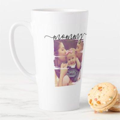 Personalized Photo and Text Latte Mug