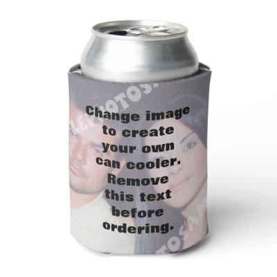 Personalized photo can cooler. Make your own! Can Cooler