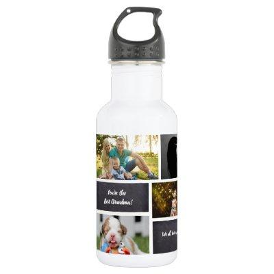 Personalized, Photo Collage, Custom Water Bottle