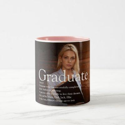 Personalized Photo Graduate Definition Two-Tone Coffee Mug