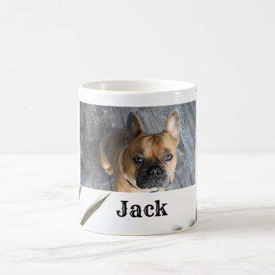 Personalized Photo Name Cute Dog Coffee Mug